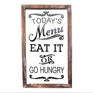 Farmhouse 'Eat or Go Hungry' Kitchen Wall Decor
